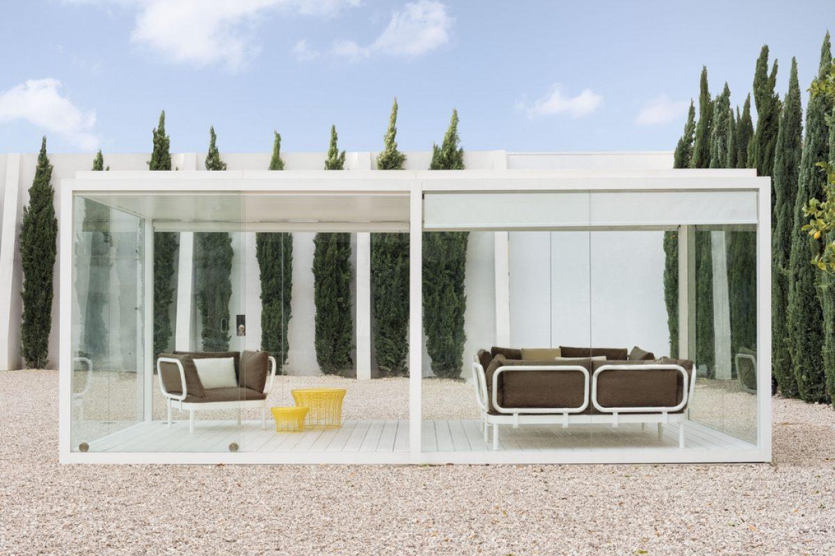 GANDIABLASCO convierte el exterior en un cómodo y acogedor espacio con su nueva Cristal Box
