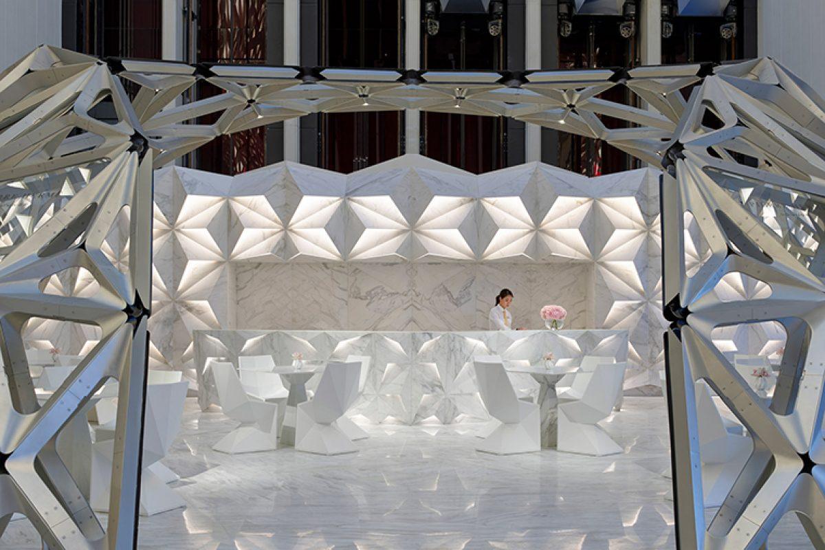 Vondom en el Hotel Morpheus. El escultórico hotel de Macao diseñado por el estudio de arquitectura de Zaha Hadid
