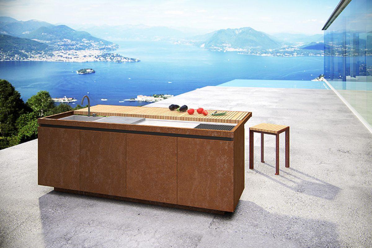 Taglia&Cuoci, la cocina para exteriores diseñada por el arquitecto Aldo Peressa para Artena Design by Grassi Pietre