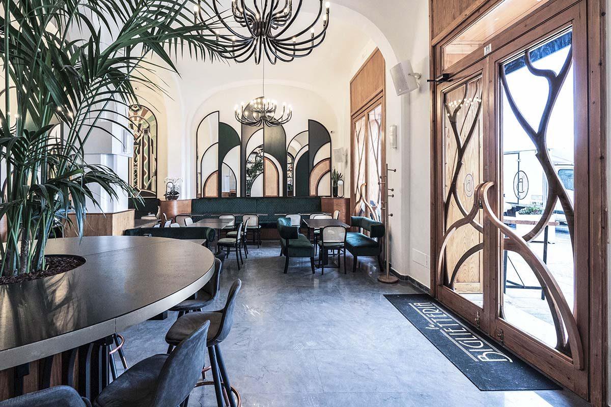 La Biglietteria, el restaurante de estilo New Decò en Bari diseñado por SMALL
