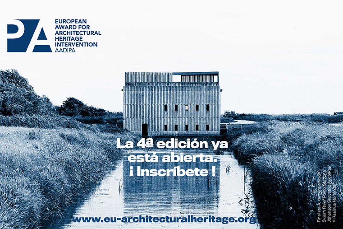 Abierta la inscripción del 4º Premio Europeo de Intervención en el Patrimonio Arquitectónico AADIPA