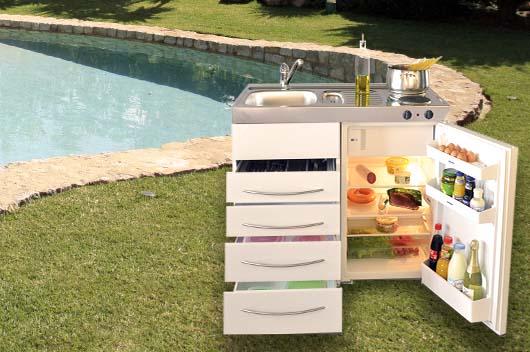 Las minicocinas de stengel al aire libre una tendencia for Cocina exterior jardin