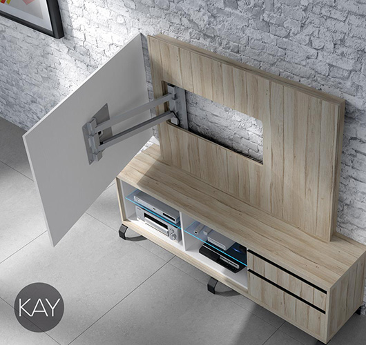 giratorios para televisión de su catálogo de mueble moderno, Kay
