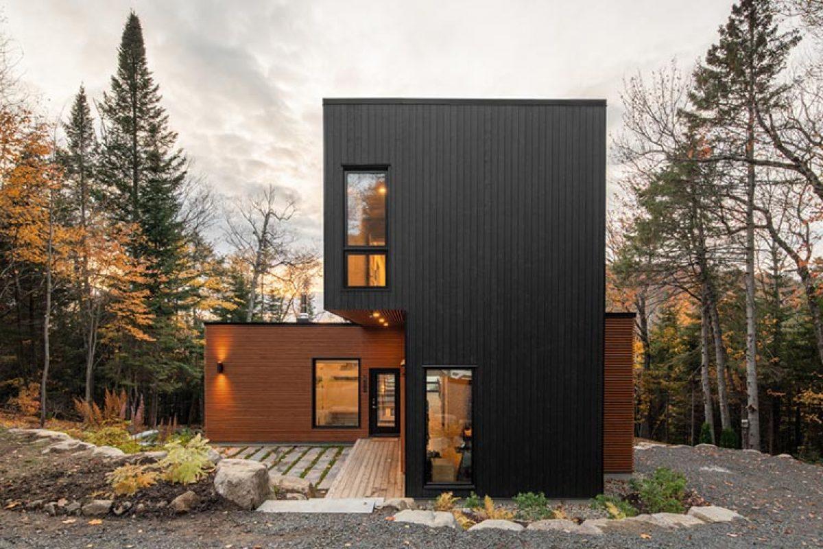 La casa de campo prefabricada lista para obtener la certificación LEED Gold. Un proyecto de Figurr