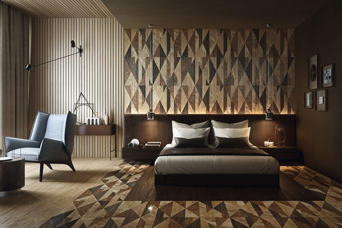 Los revestimientos únicos y elegantes en piedra natural y marmol de Lithos Design en zonas de descanso. Dormitorios con carácter