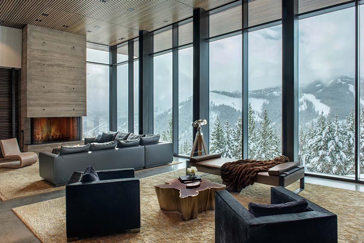 Residencia Yellowstone por Stuart Silk Architects. Acero y hormigón a 2500 m de altura