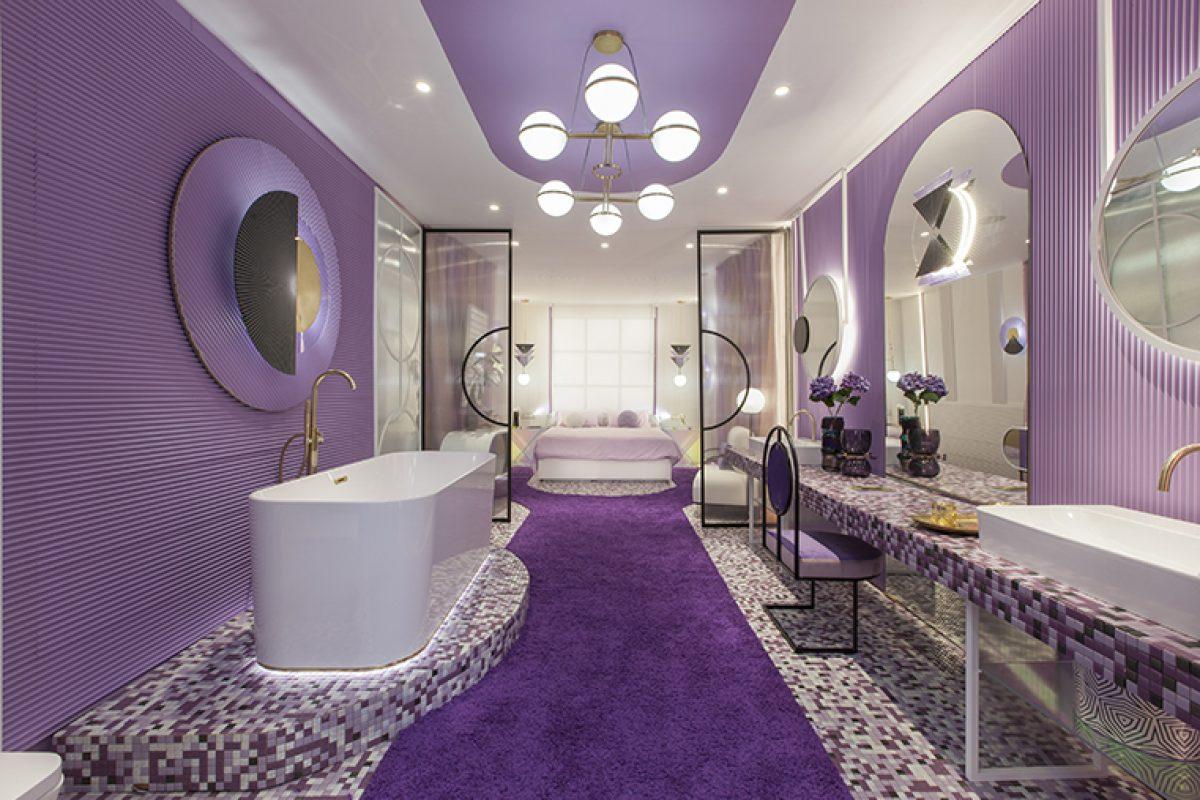 El concepto de habitación de hotel «Violet Bliss» diseñado por In Out Studio recibe el premio al «Espacio Más Creativo» en Marbella Design 2019