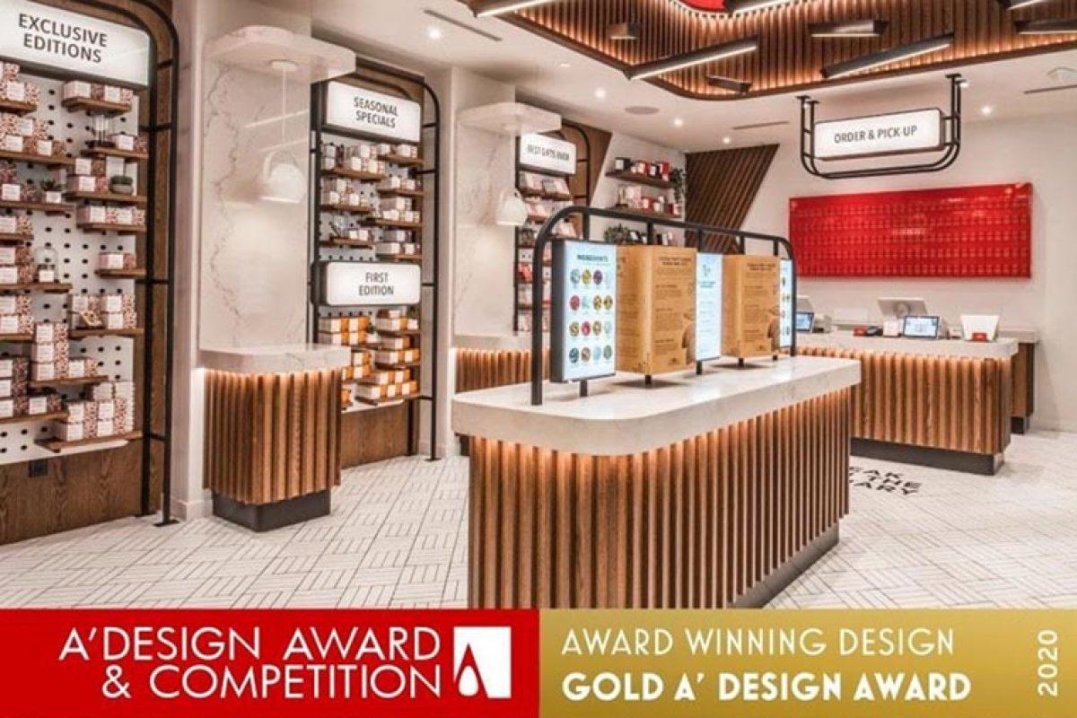 El trabajo de Unique Store Fixtures para el nuevo KitKat Chocolatory de Toronto, gana el oro en A' Design Award