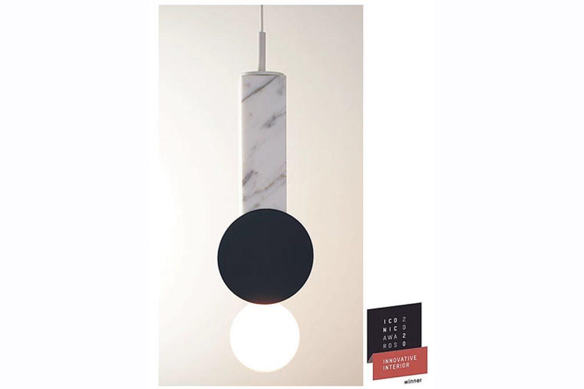 Halo, la luminaria de neo studios diseñada por Rodrigo Vairinhos, ganadora de un Icon Awards 2020