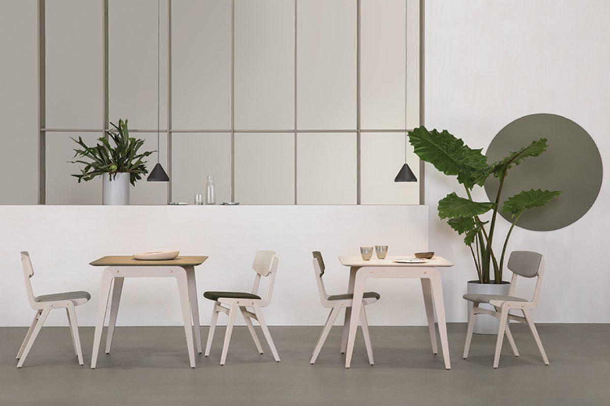Colección de sillas Glöwr diseñada por Claire Davies para Vergés