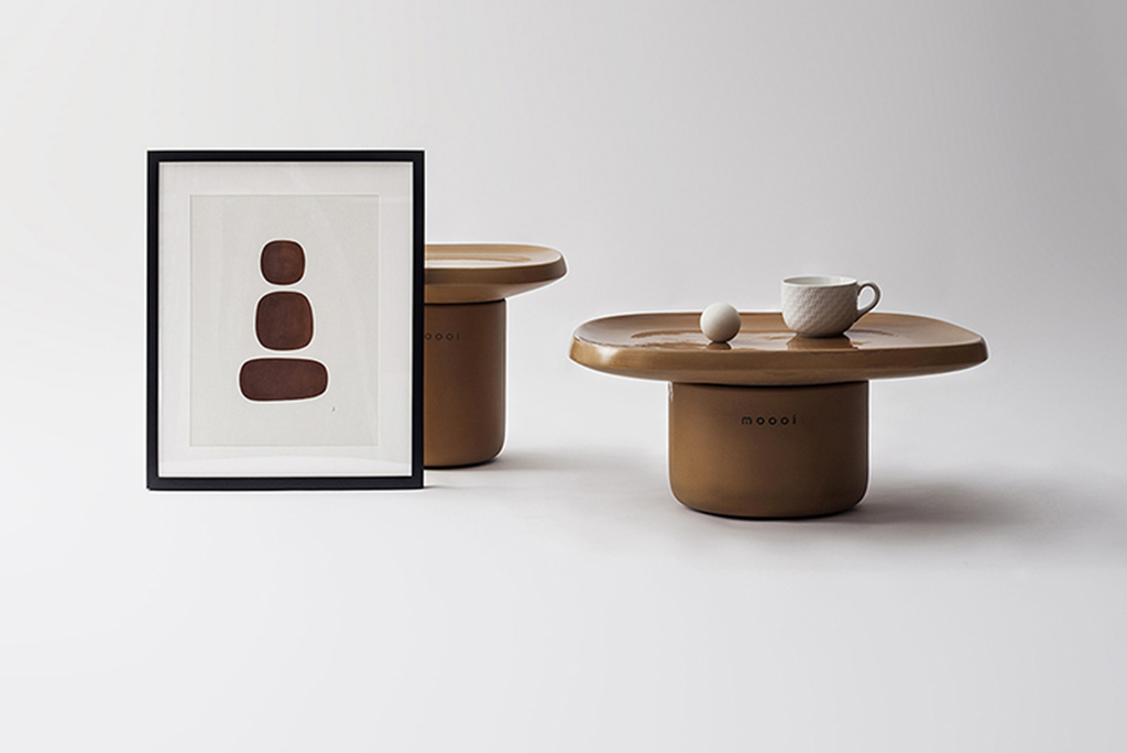 Obon, la colección de mesas de terracota diseñadas por Simone Bonanni Studio para Moooi