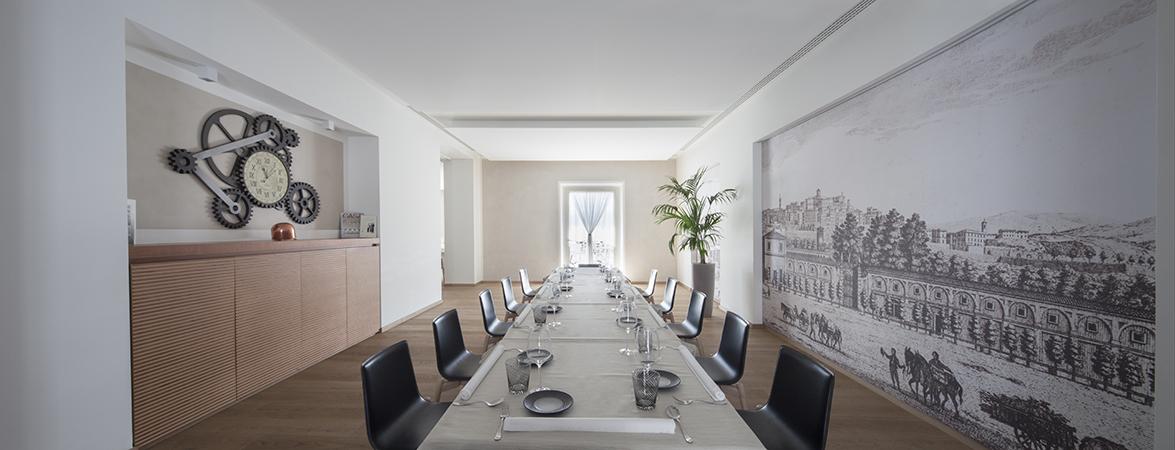 Pedrali brings elegance and sobriety at the interior design of the ristorante ezio gritti in - Interior design bergamo ...