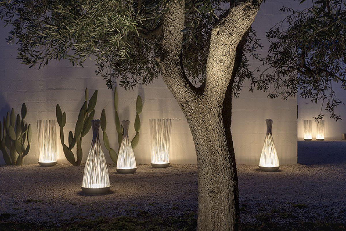 Don't touch, la nueva evocadora lámpara de pie para interiores y exteriores diseñada por Matteo Ugolini para Karman