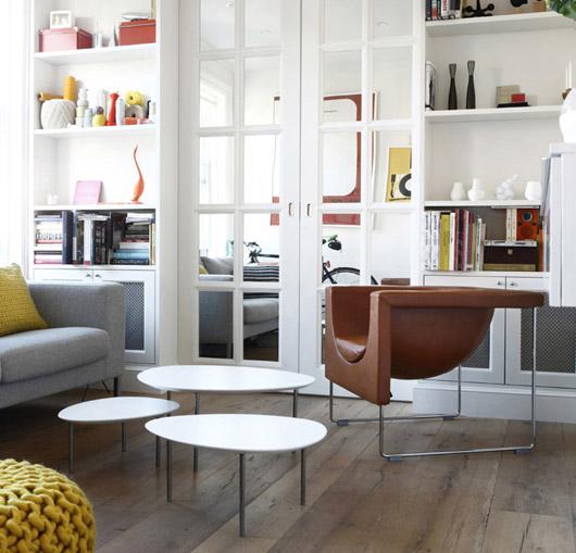los muebles de stua en un apartamento en la calle perry de