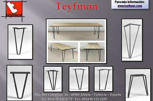 Teyfmon nos presenta la tendencia en patas para mesas for Mesas de centro metalicas