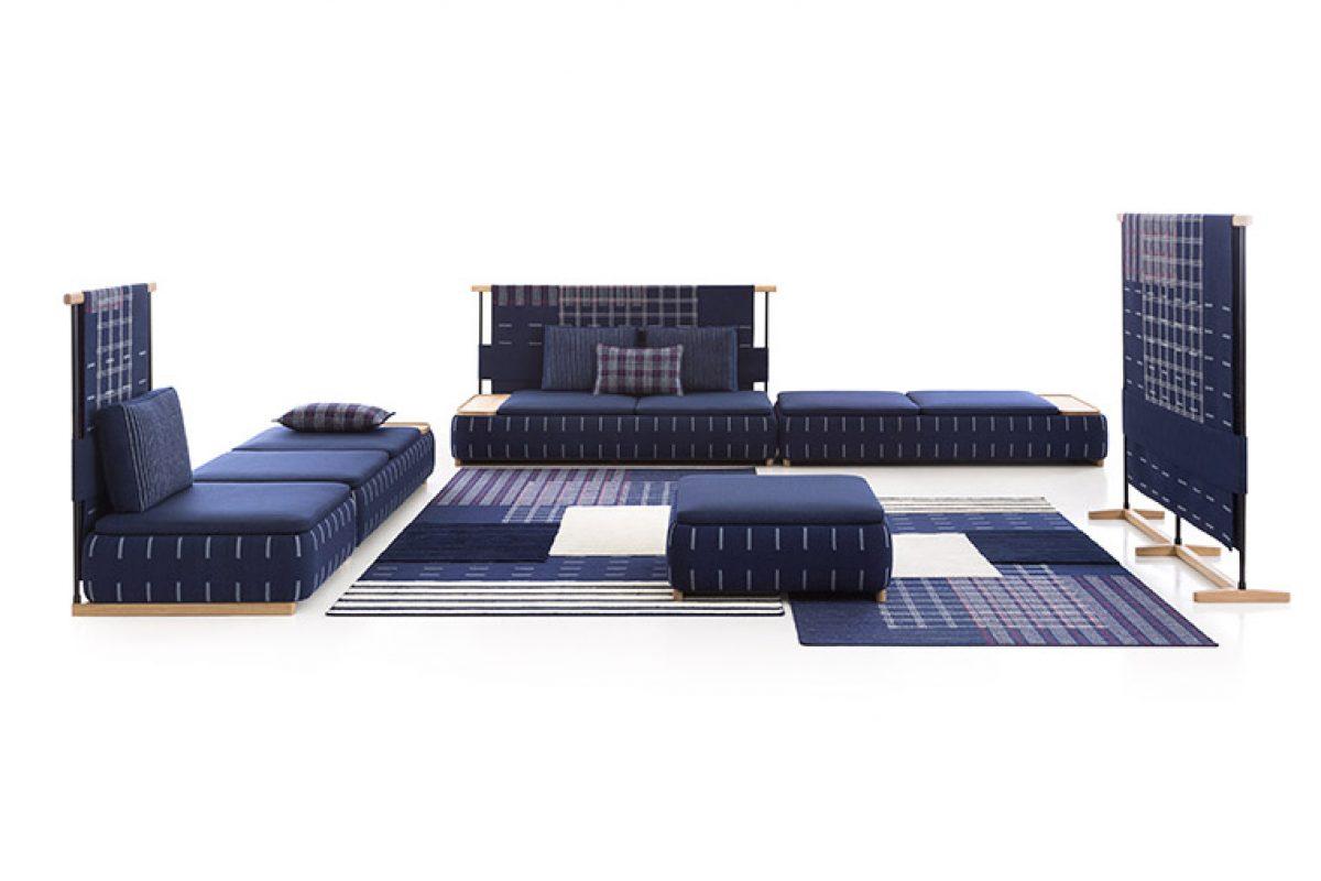 Lan, una nueva tipología de sofá diseñada por Neri&Hu para Gan Rugs