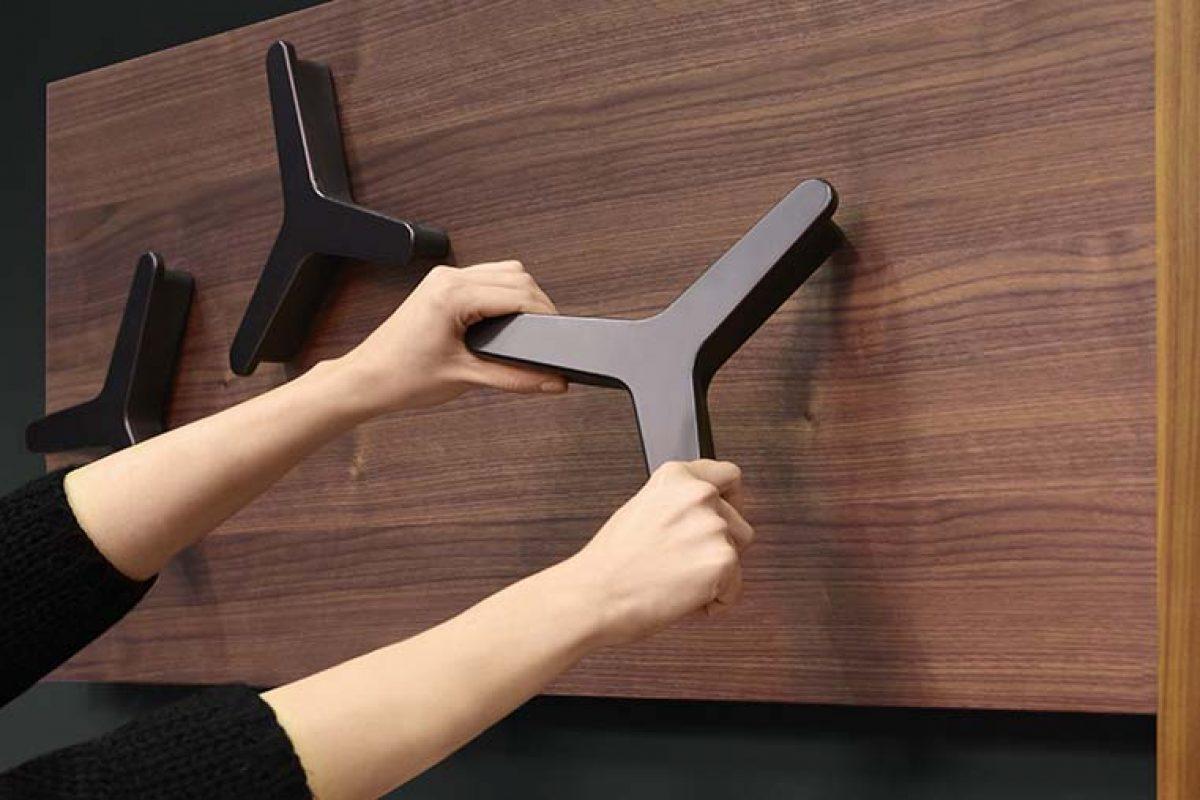 Jazz de Studio 28 para Ronda Design, elegantes combinaciones magnéticas para el recibidor