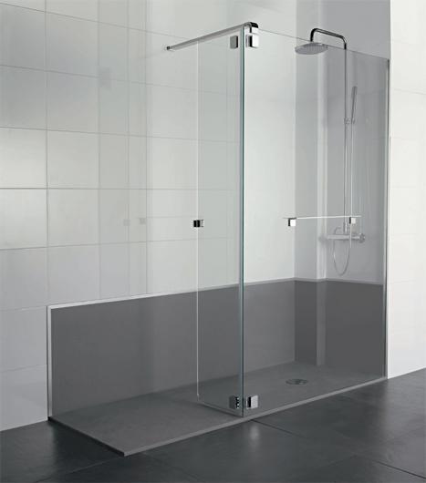 Baño Con Ducha Sin Plato:Plato de ducha Flat Spline de PROFILTEK, maximiza el espacio de baño