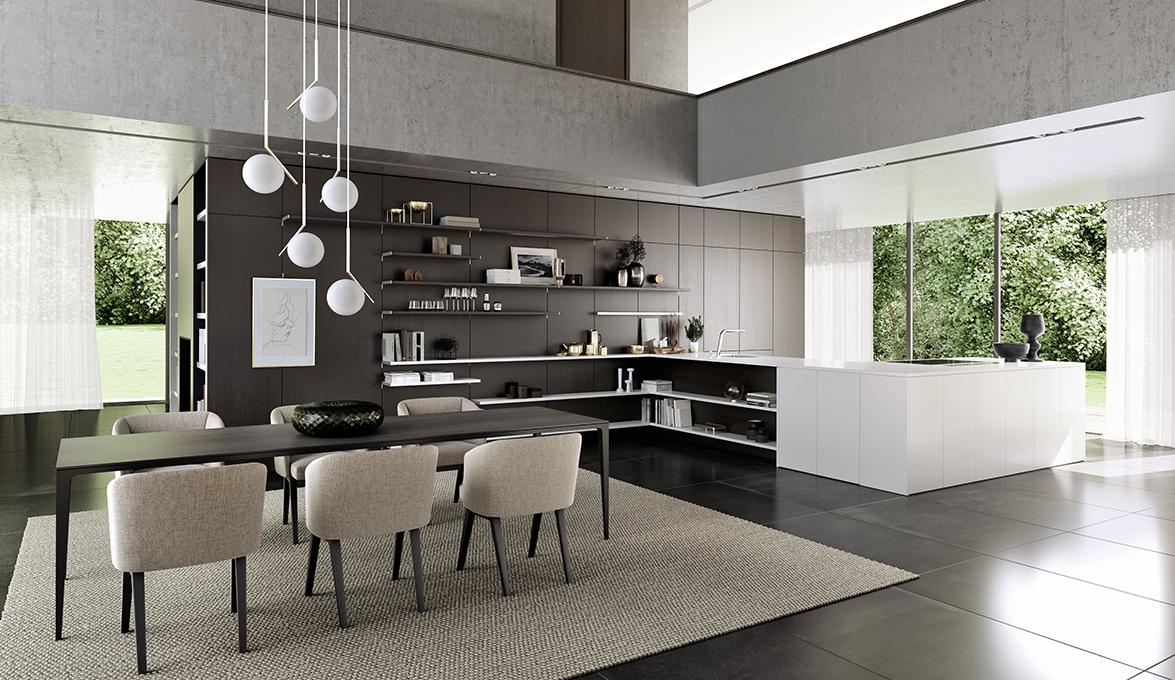 SieMatic Pure, difuminadas líneas entre la cocina y la sala
