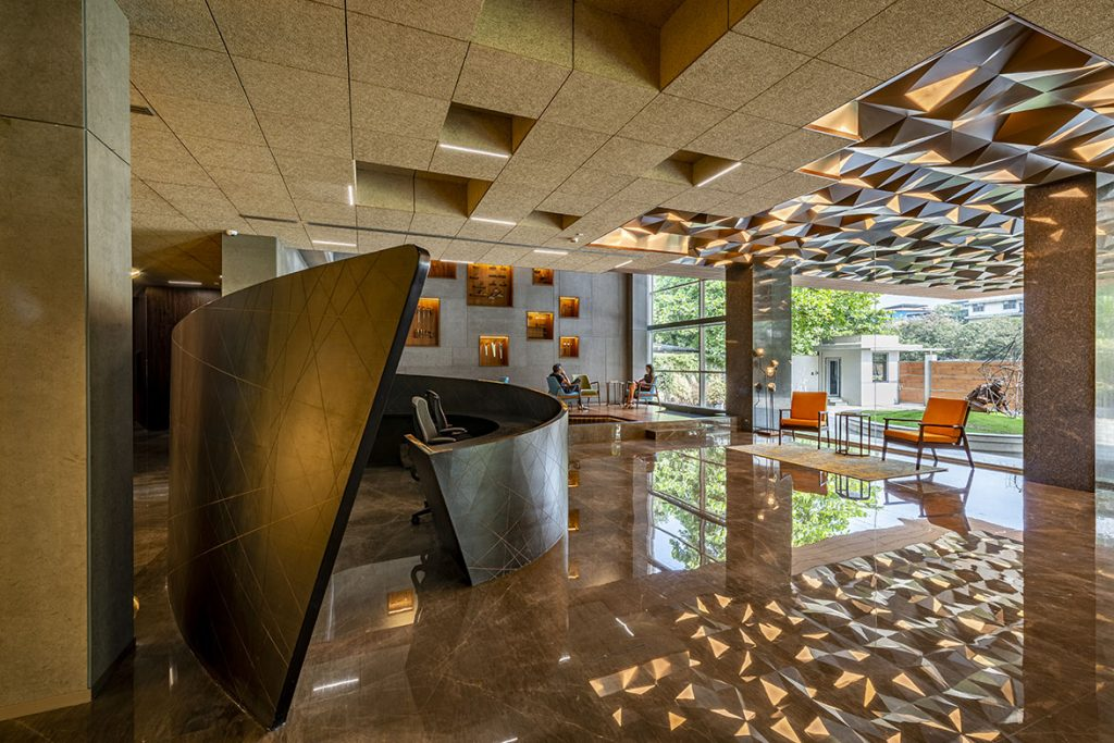 Sanjay Puri Architects Creates Architectural Volumes For The New Offices Of Narsi In Navi Mumbai News Infurma Online Magazine Of The International Habitat Portal Design Contract Interior Design Furniture Lighting And