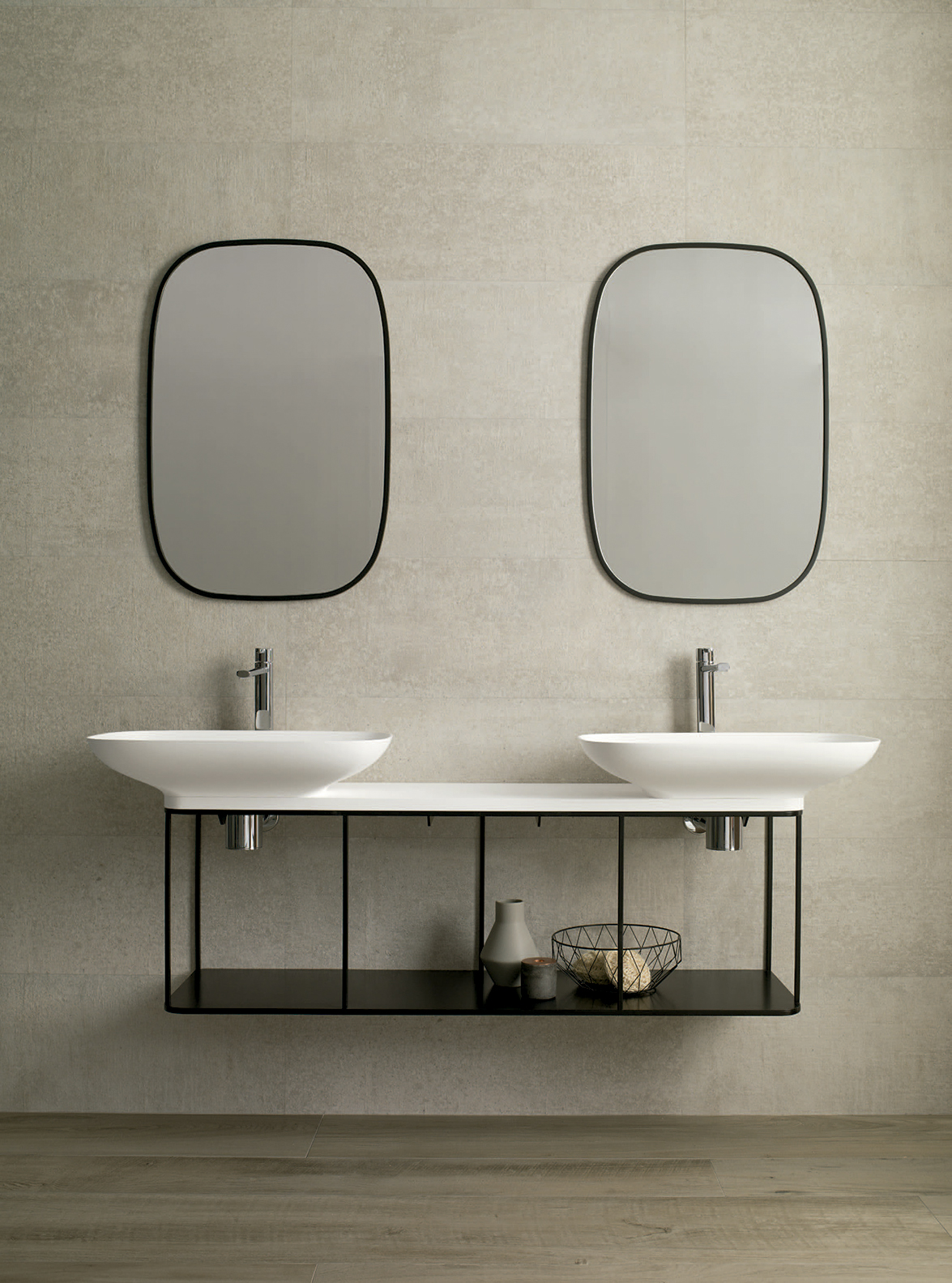 Pure Bathroom Collection By Yonoh For Porcelanosa Delicate Mixture Of Organic Shapes And Geometrical Designs News Infurma Online Magazine Of The International Habitat Portal Design Contract Interior Design Furniture Lighting And