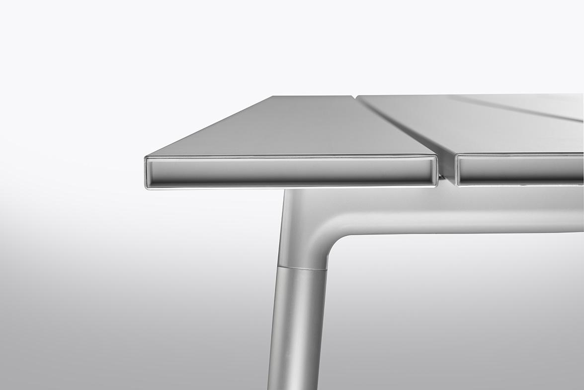 6. Emeco Run Aluminum Table detail 2