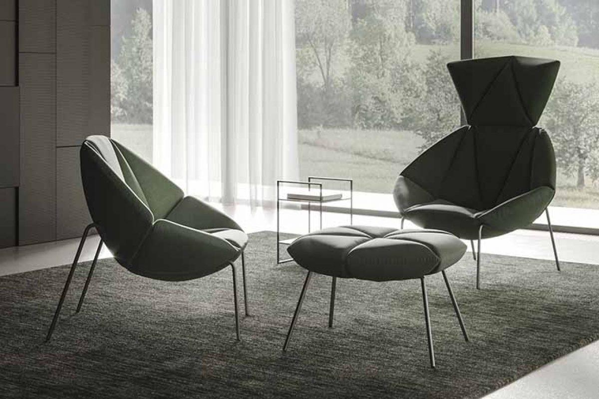 Gino Carollo diseña la colección de asientos Mantra para Ronda Design. Relajación seductora