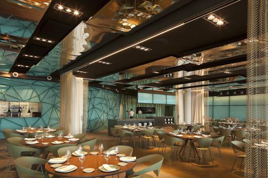 Restaurante salt en barcelona reflejos marinos que fluyen for Hotel w barcelona restaurante