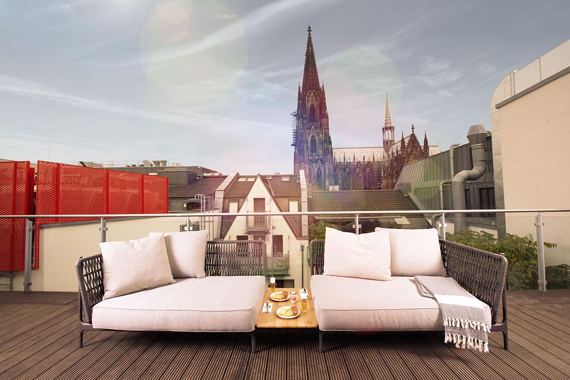 Köln möbliert, imm 2017, Produkt: Grand Weave, Aussteller: Gloster