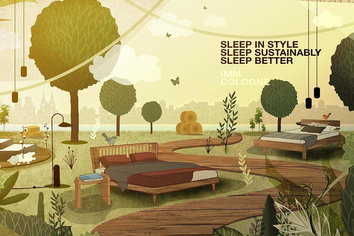 imm cologne 2022: formas más acogedoras, ecológicas e inteligentes de dormir bien