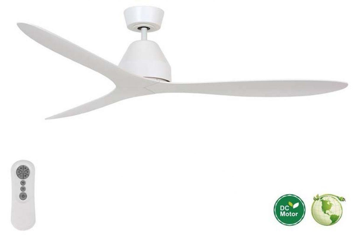 Blanco, elegante, silencioso y de bajo consumo: el nuevo ventilador de techo para puristas