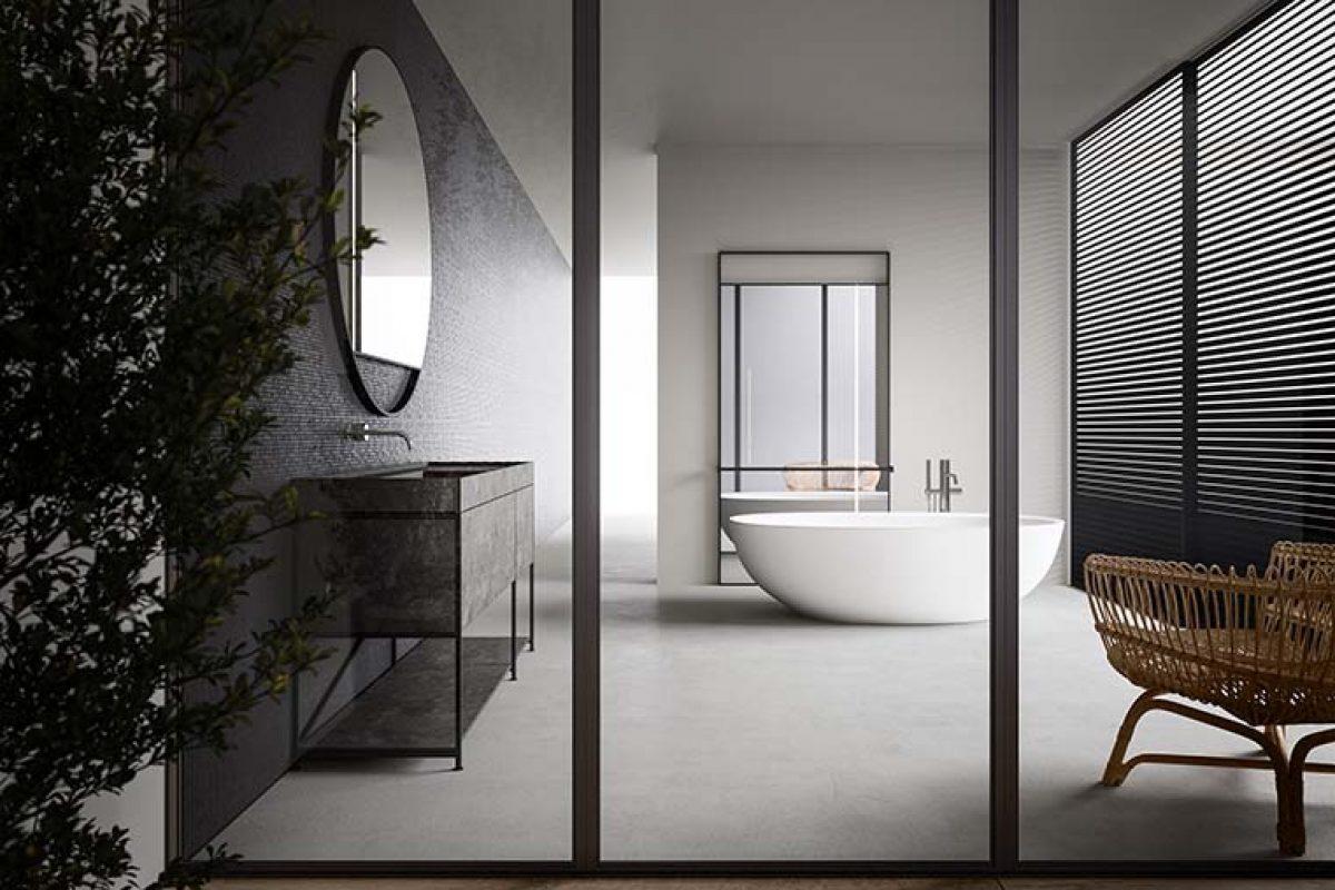 Sistema modular de baño R.I.G. diseñado por Mikal Harrsen para Boffi