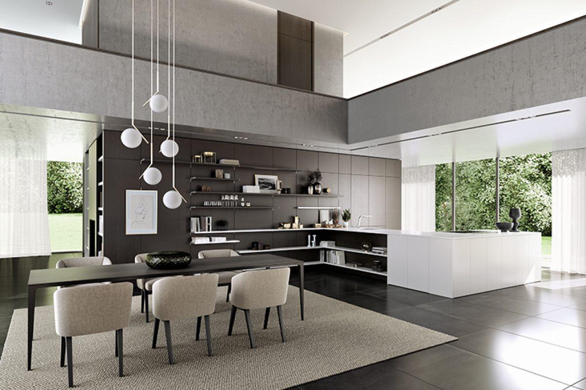 SieMatic presenta su nuevo concepto de cocina y salón open-concept enmarcado en el mundo estilístico Pure