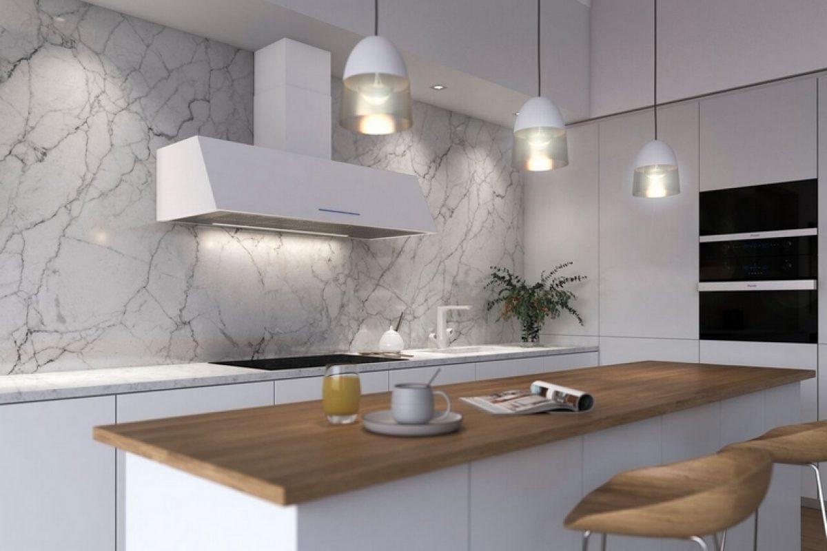 Adorna tu cocina con P-2010, la versátil campana de pared creada por PANDO
