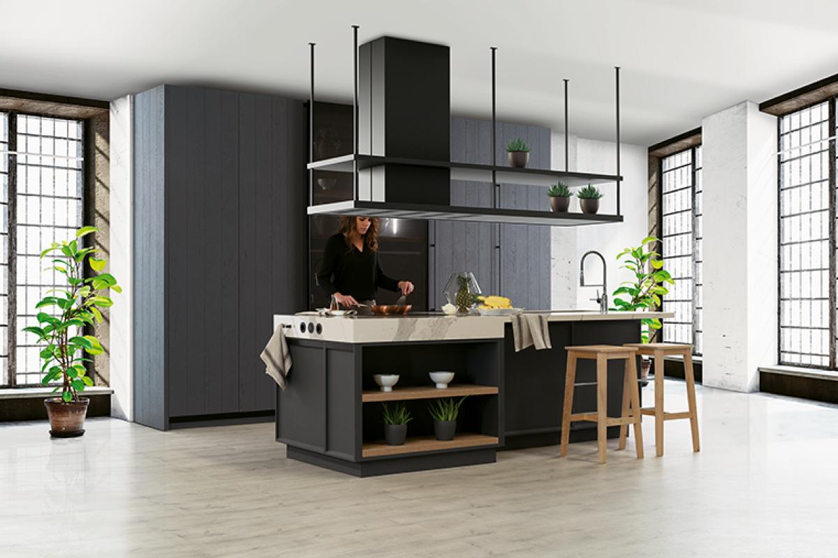 Cocinas en negro, un toque de elegancia y personalidad. Trucos para incorporar este color a tu cocina