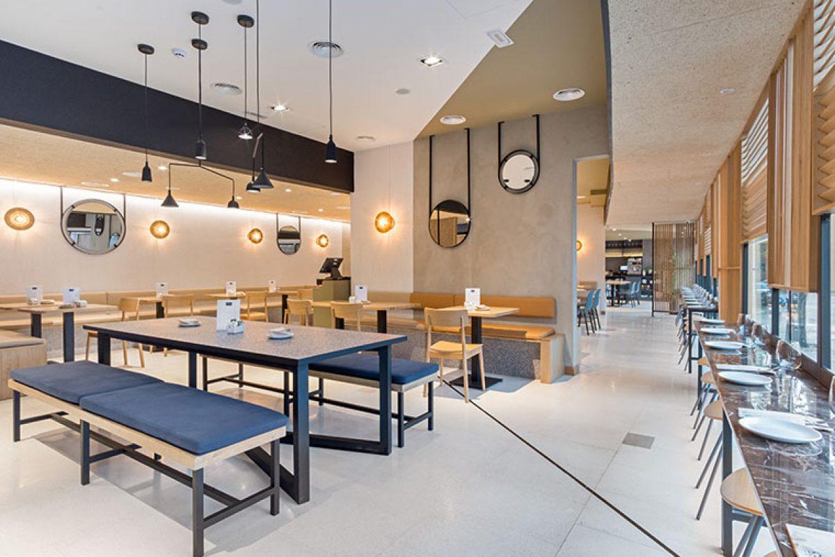 El estudio Byral diseña el nuevo restaurante Popa de Madrid. Un único espacio dividido con sutileza