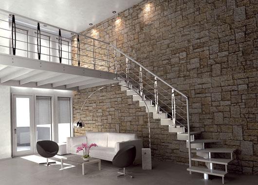 Casas prefabricadas madera escaleras altillos - Escaleras para altillos ...