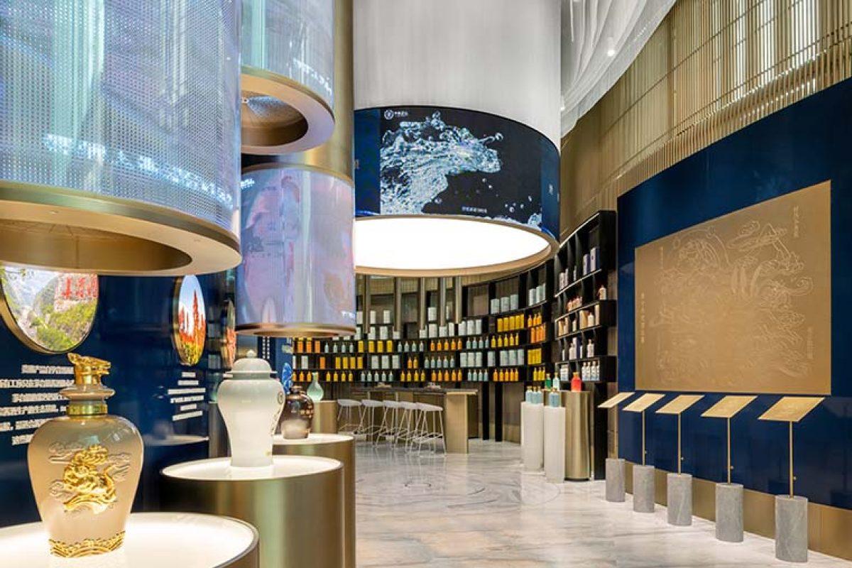 Ippolito Fleitz Group une tradición y estilo de vida en la Guiniang Experience Store de Shanghai: poner un licor de culto chino a la altura de las marcas internacionales de bebidas espirituosas