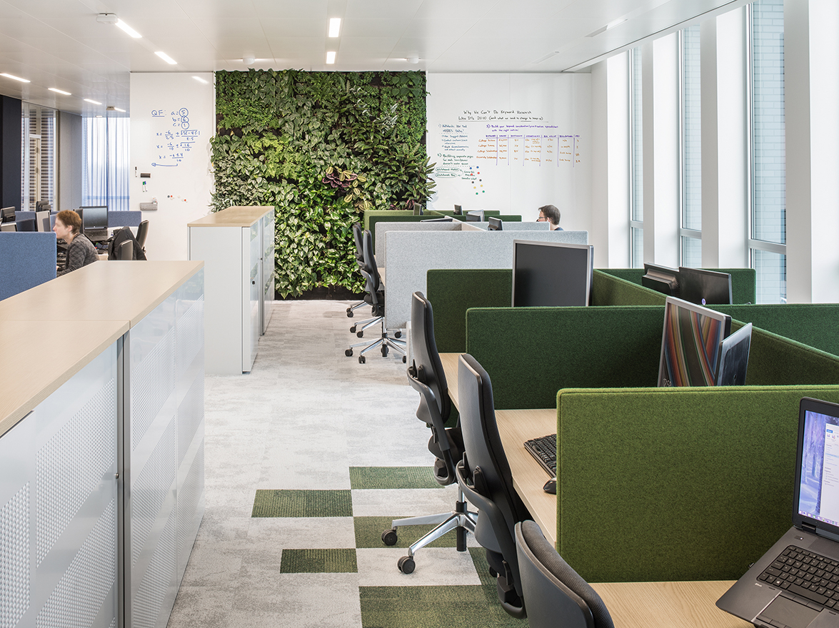 I29 interior architects designed an open and green offices creating