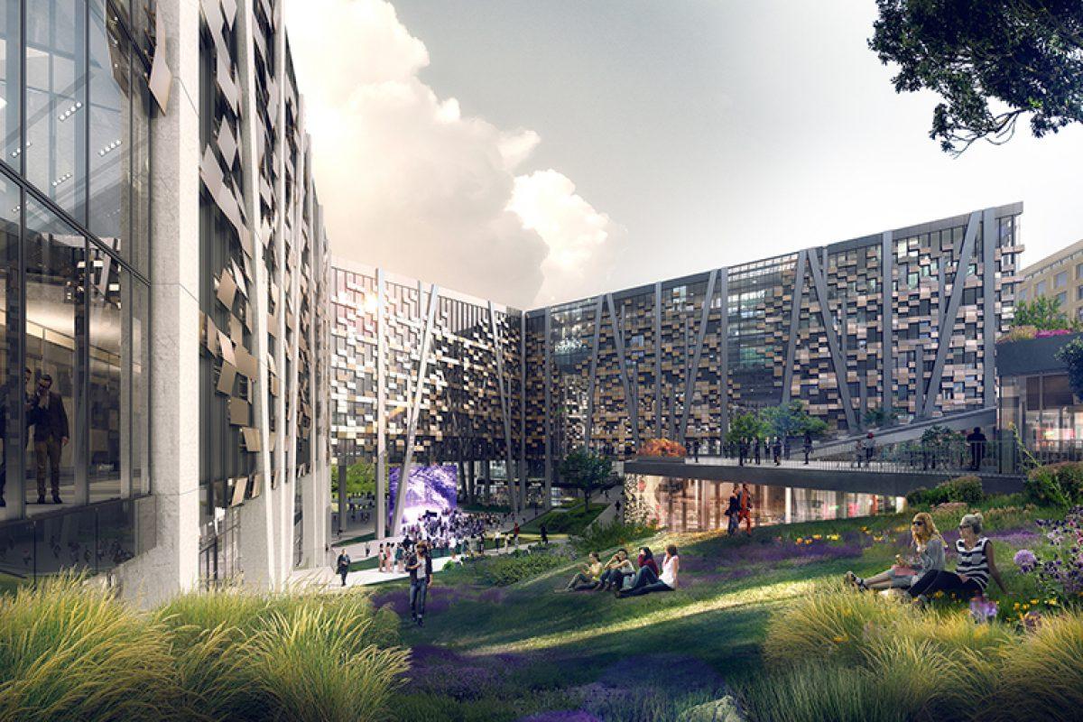 Økern Portal, un innovador edificio diseñado por DARK Arkitekter con fachadas Wicona realizadas con aluminio reciclado