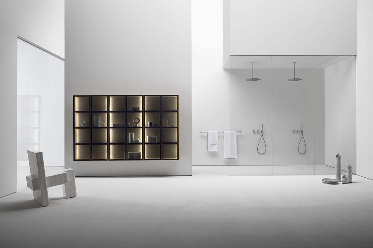 Falper presenta Butler, el armario de pared modular creado específicamente para el baño