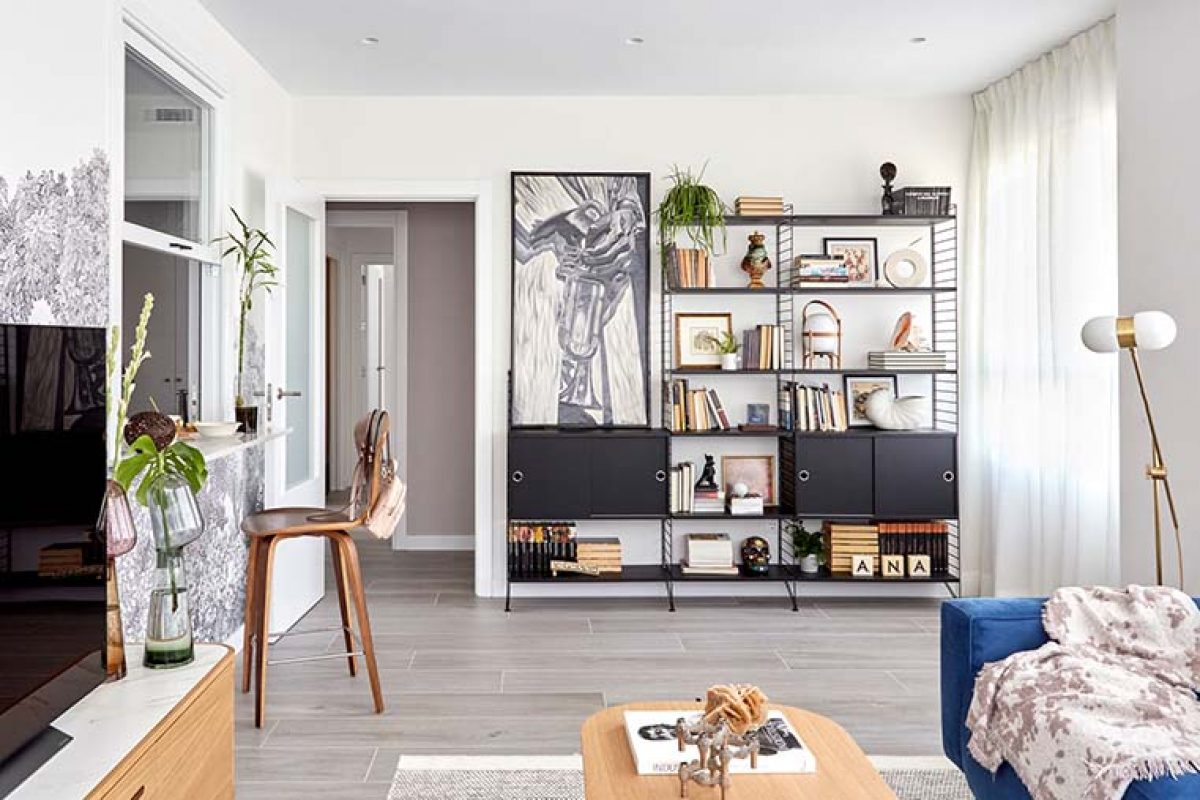 Proyecto de reforma e interiorismo de apartamento en Madrid por Deleite Design