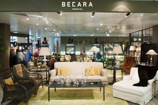 Becara abre su nueva tienda en el corte ingl s de for Muebles de salon clasicos en el corte ingles