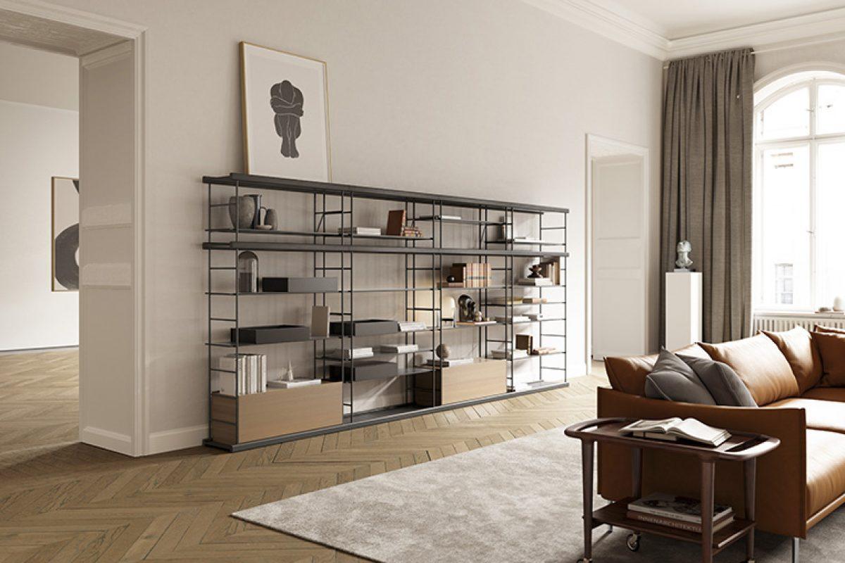 Nuevo sistema de estanterías modulares Bost diseñado por Yonoh para Treku