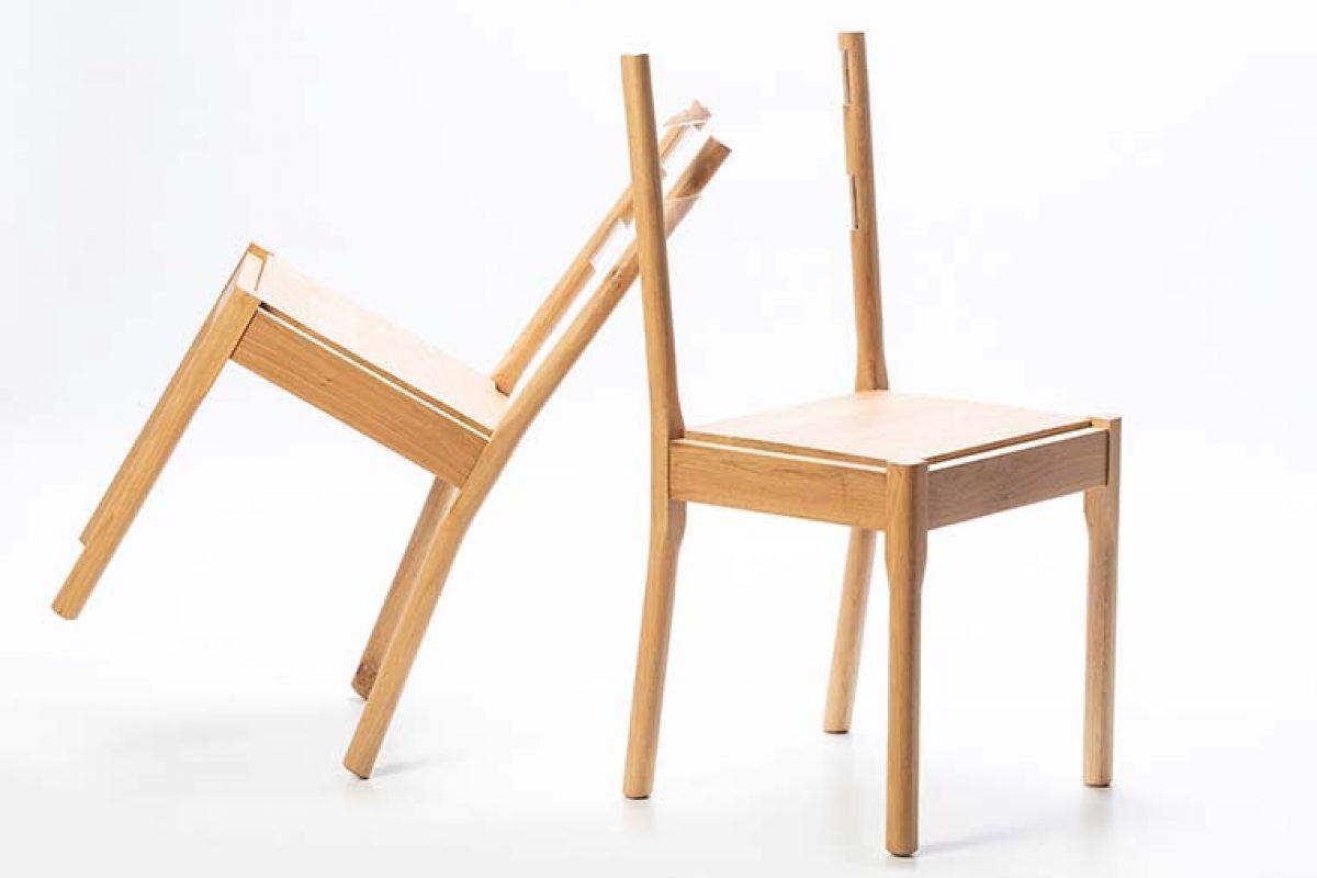 Welter Chair, la silla con respaldo invisible diseñada por Minimal Studio