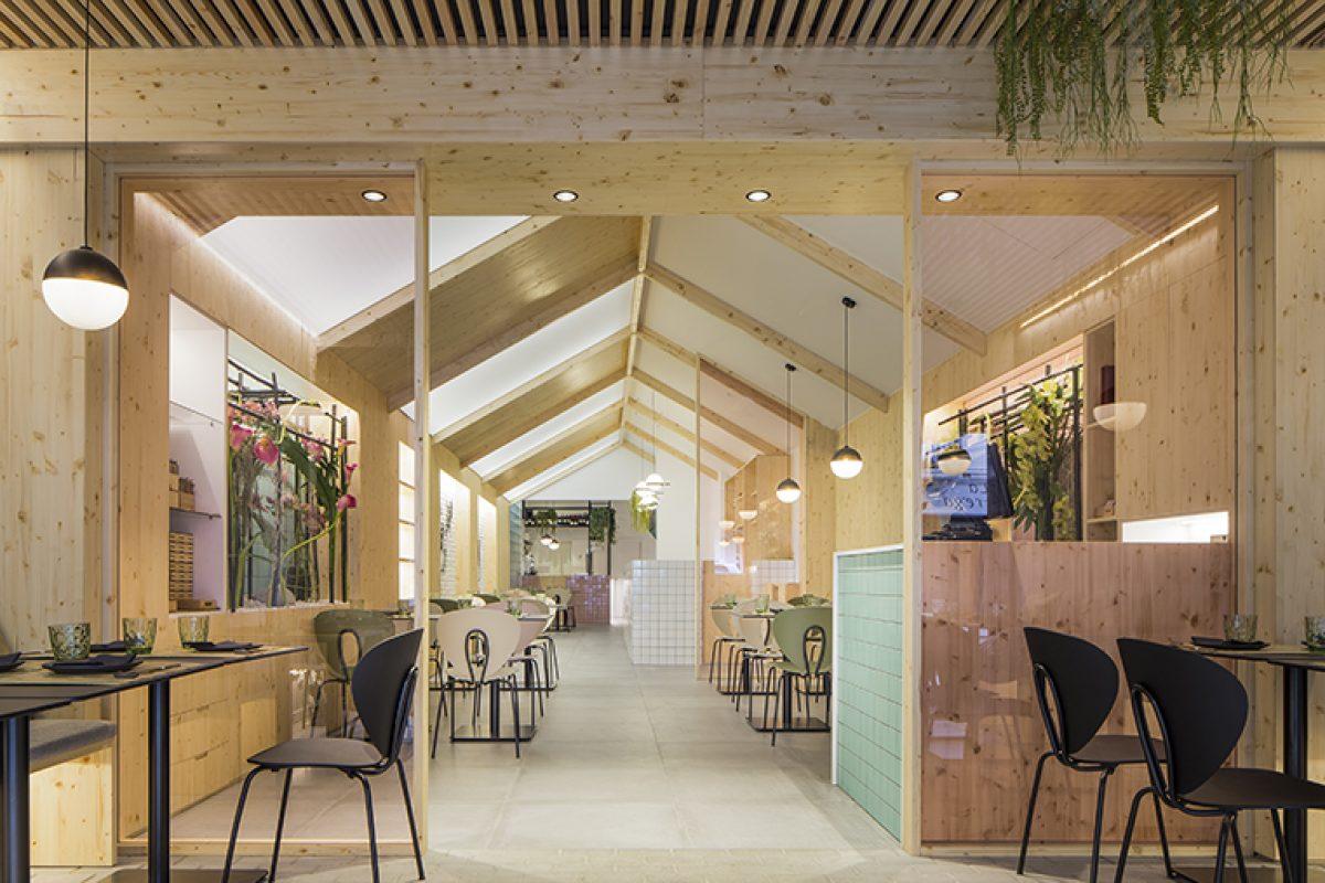 Nonna Design fusiona el Japón más tradicional y el diseño nórdico en el contemporáneo restaurante Kamon