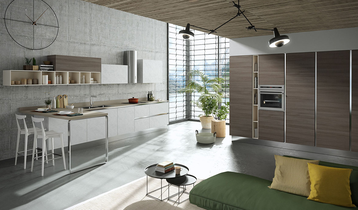 Aran cucine presents mia its young and attractive kitchen for Aran cucine
