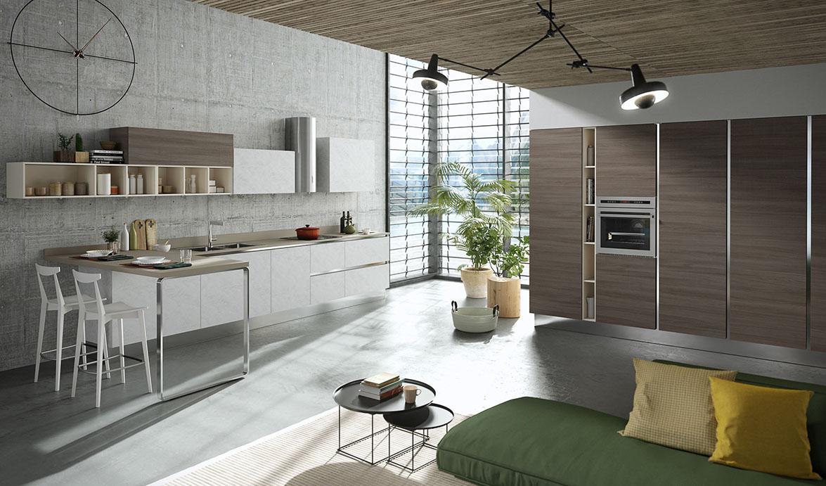 Aran cucine presents mia its young and attractive kitchen - Aran cucine opinioni ...