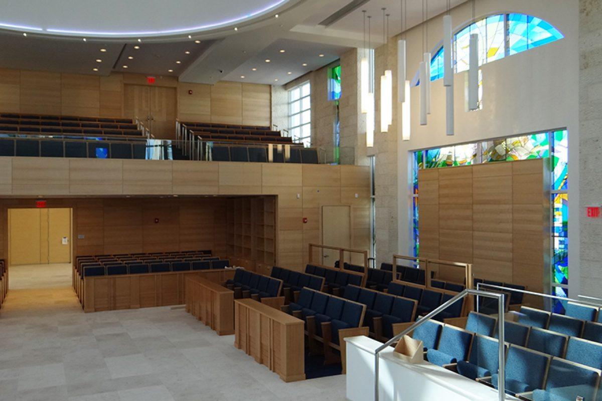 La protección de Milesi en la Sinagoga Young Israel de Miami, diseñada por Ideatec