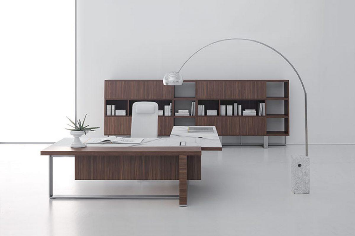 DV913-Vigo de Baldanzi & Novelli para DVO_, equilibrio escultórico de volúmenes para mobiliario directivo